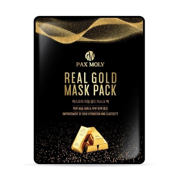 PAXMOLY Real Gold arcmaszk